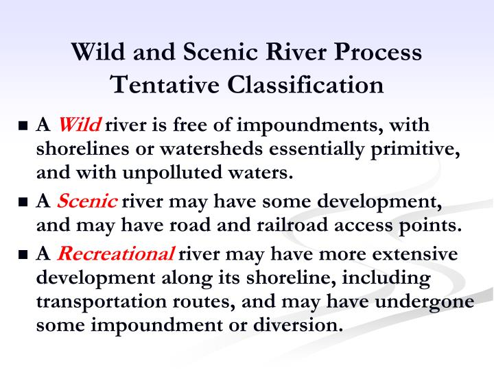 Wild and Scenic River Process