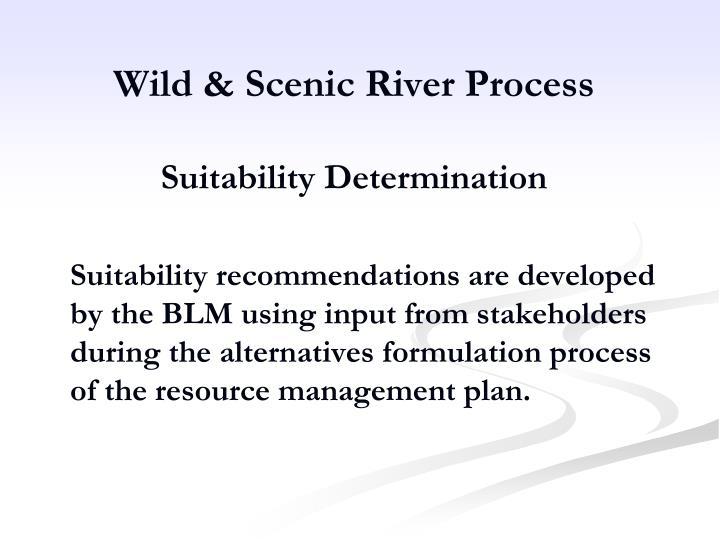 Wild & Scenic River Process
