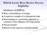 wild scenic river review process eligibility