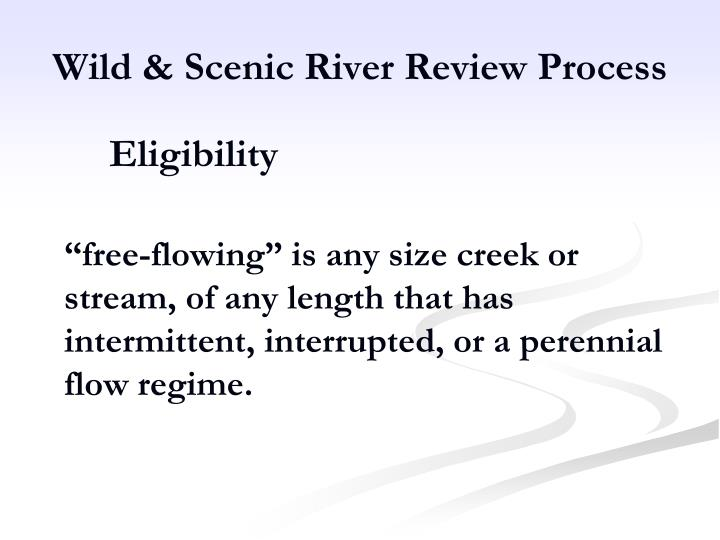 Wild & Scenic River Review Process