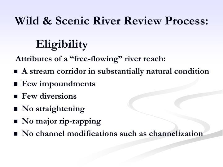 Wild & Scenic River Review Process: