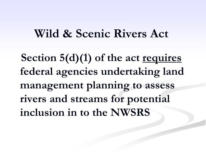 Wild & Scenic Rivers Act