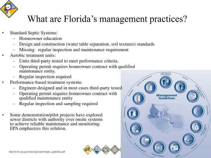 What are Florida's management practices?