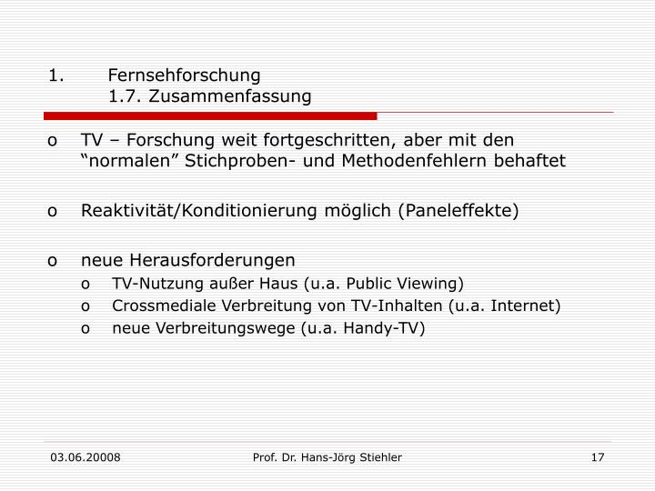 Fernsehforschung