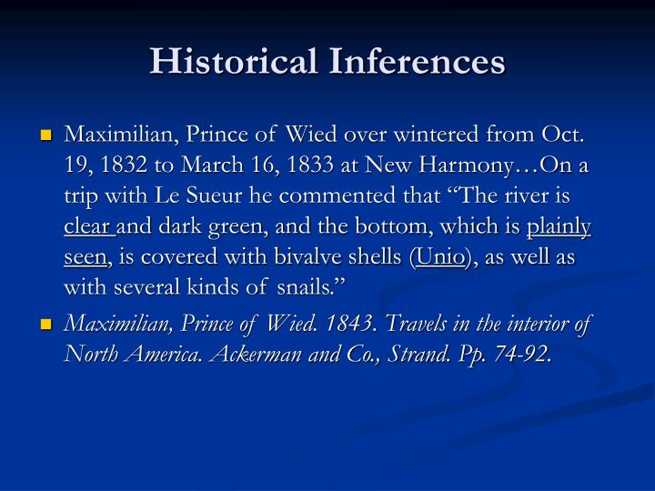Historical Inferences