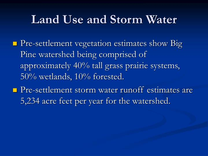 Land Use and Storm Water