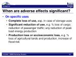 when are adverse effects significant1
