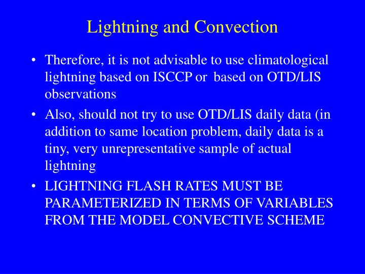 Lightning and Convection