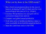 what can be done in the gmi model