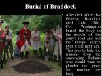 burial of braddock