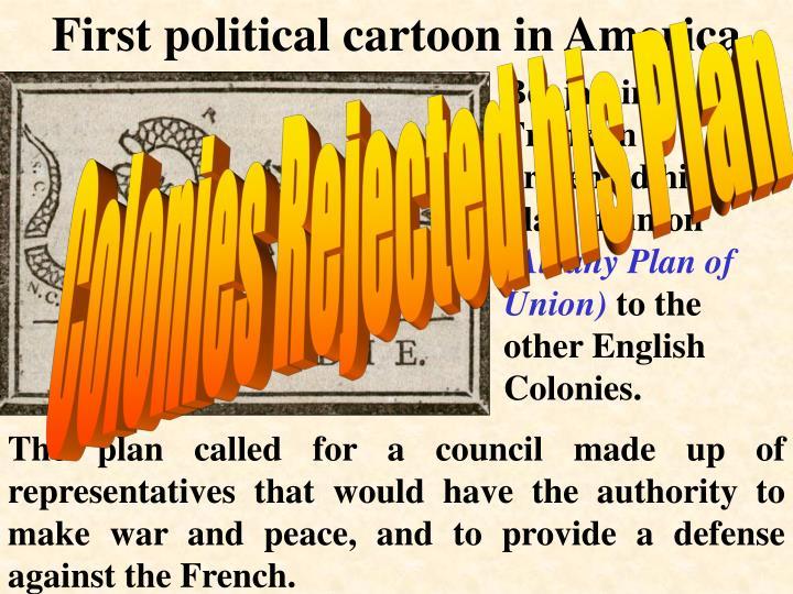 First political cartoon in America