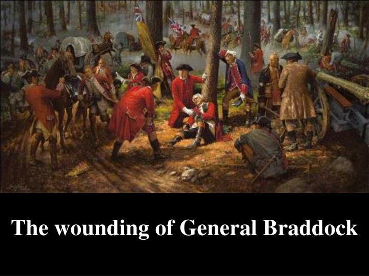 The wounding of General Braddock