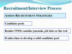 recruitment interview process