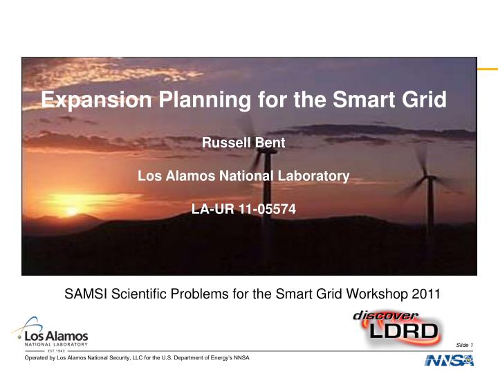Expansion Planning for the Smart Grid