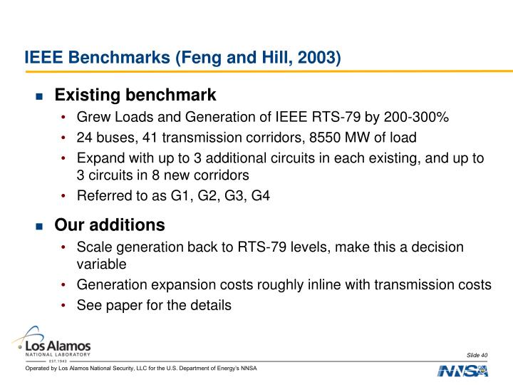 IEEE Benchmarks (Feng and Hill, 2003)