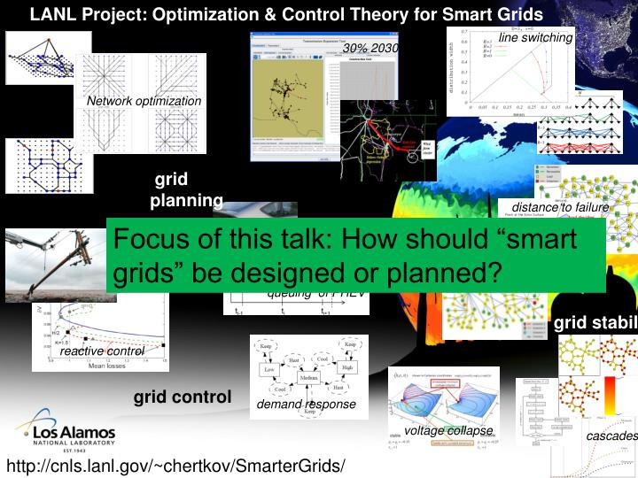 LANL Project: Optimization & Control Theory for Smart Grids