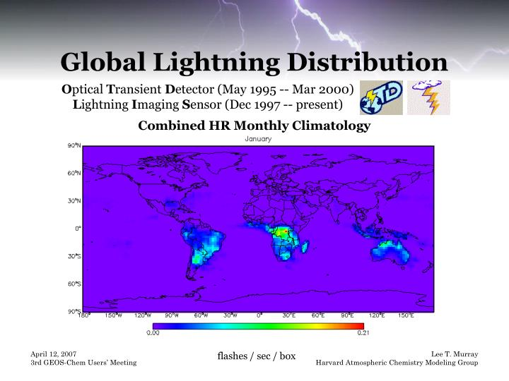 Global Lightning Distribution