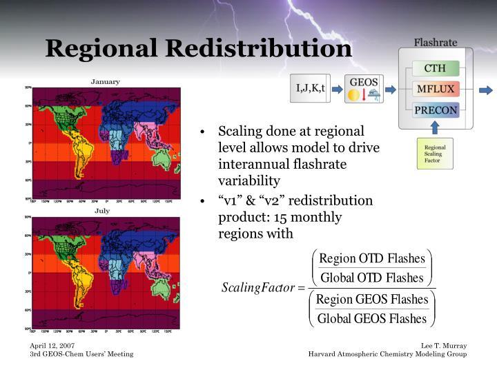 Regional Redistribution
