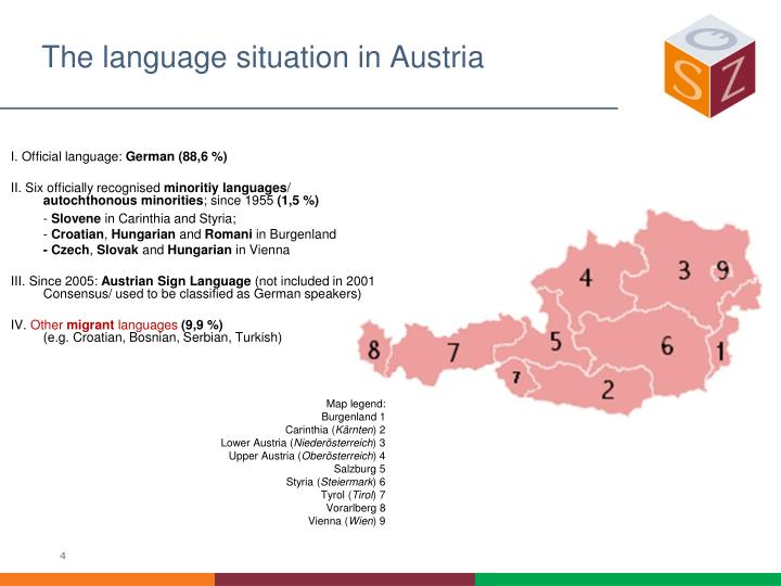 The language situation in Austria