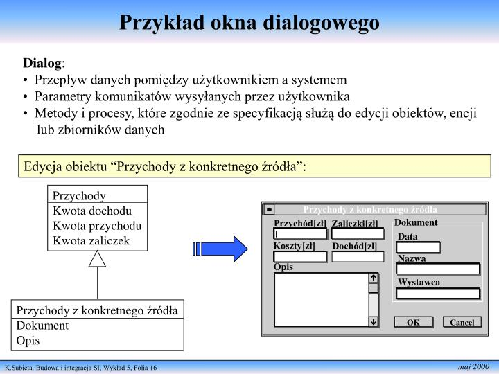 Przykład okna dialogowego