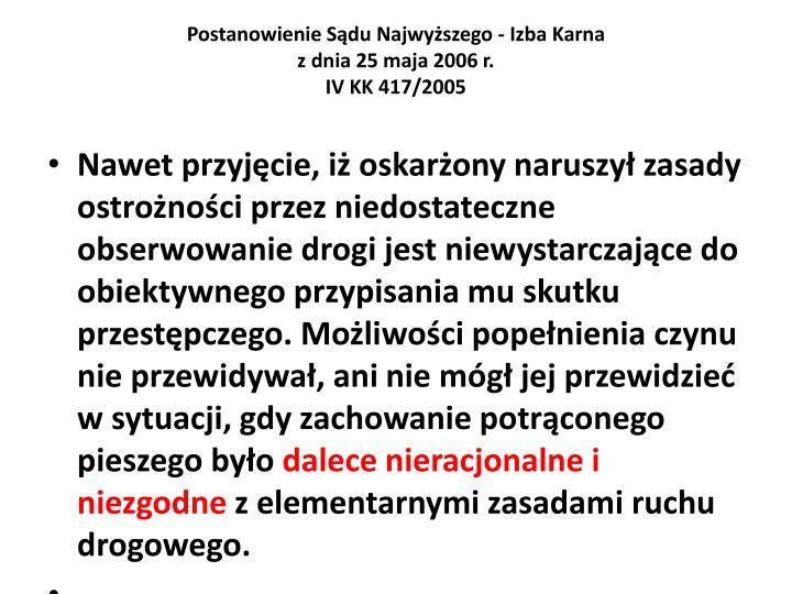 Postanowienie Sdu Najwyszego - Izba Karna