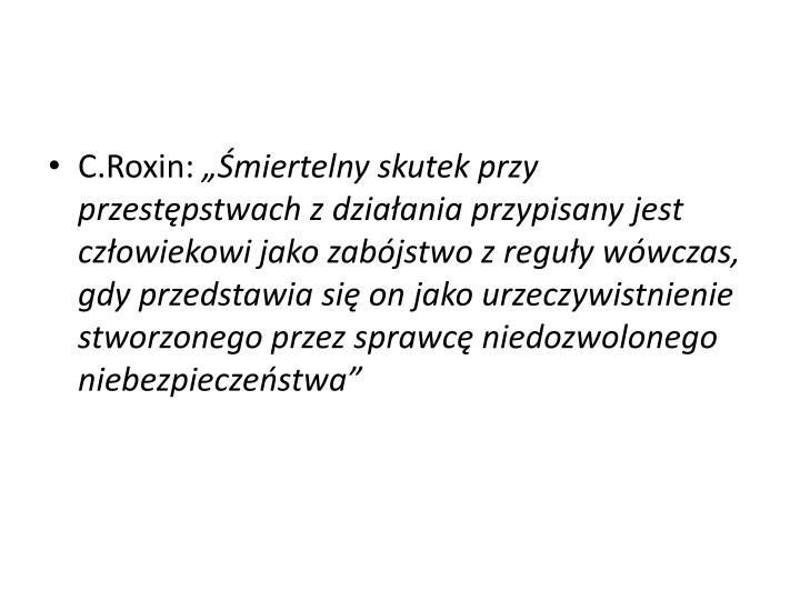 C.Roxin: