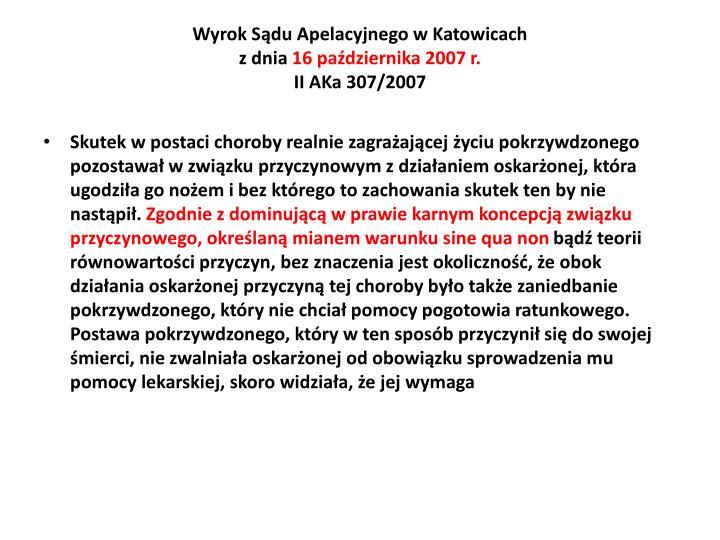 Wyrok Sdu Apelacyjnego w Katowicach
