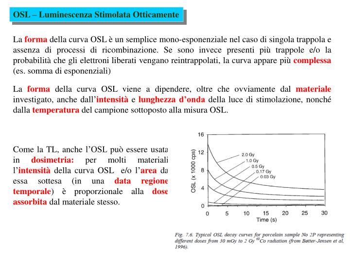 OSL – Luminescenza Stimolata Otticamente