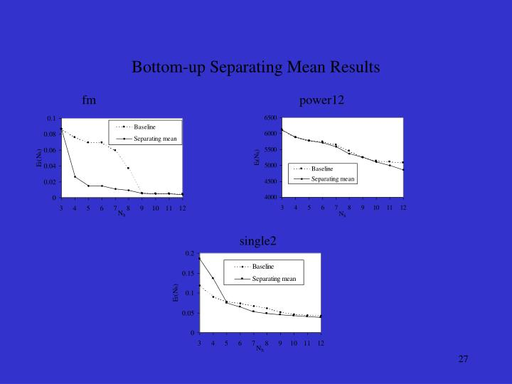 Bottom-up Separating Mean Results
