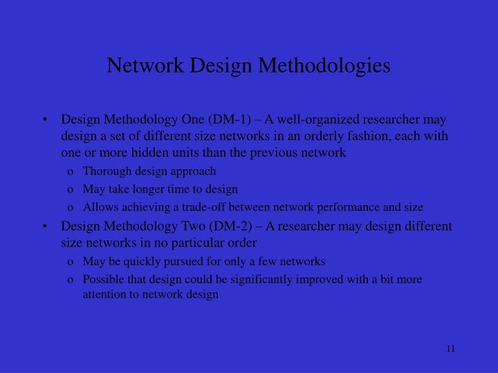 Network Design Methodologies
