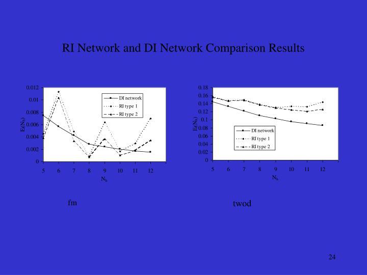 RI Network and DI Network Comparison Results