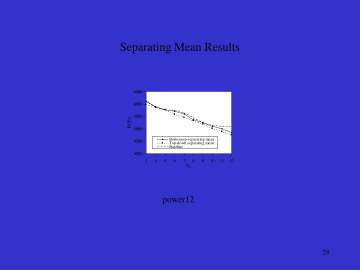 Separating Mean Results