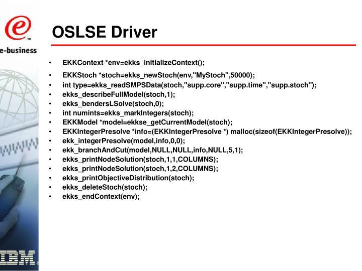 OSLSE Driver