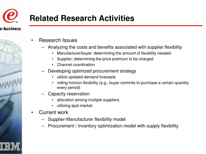 Related Research Activities