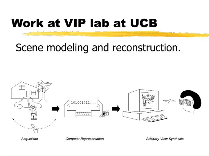 Work at VIP lab at UCB