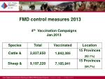 fmd control measures 2013