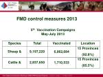 fmd control measures 20131