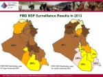 fmd nsp surveillance results in 20132
