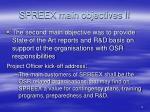 spreex main objectives ii