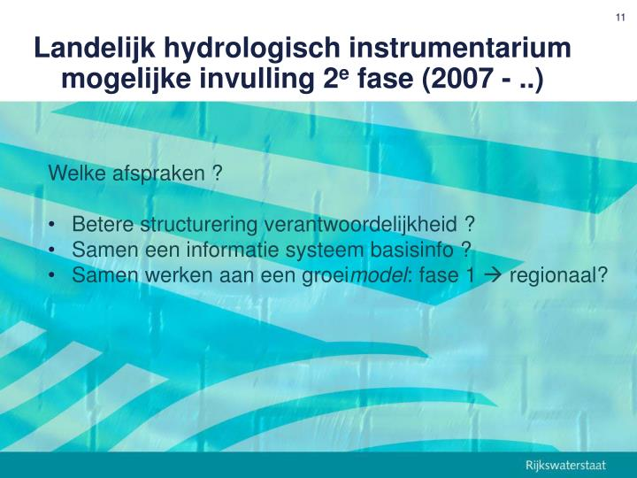 Landelijk hydrologisch instrumentarium
