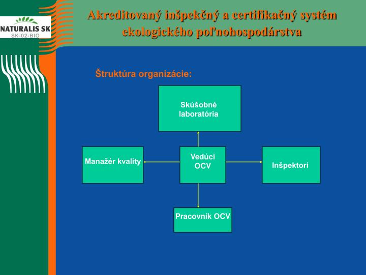 Akreditovaný inšpekčný a certifikačný systém