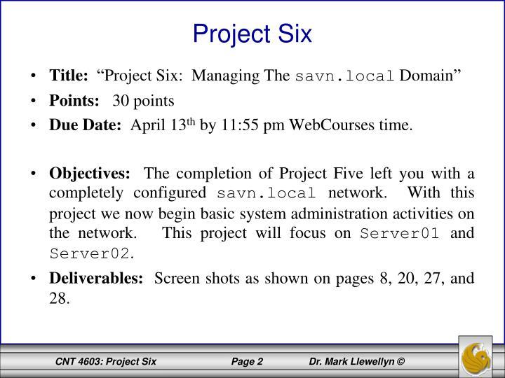 Project Six