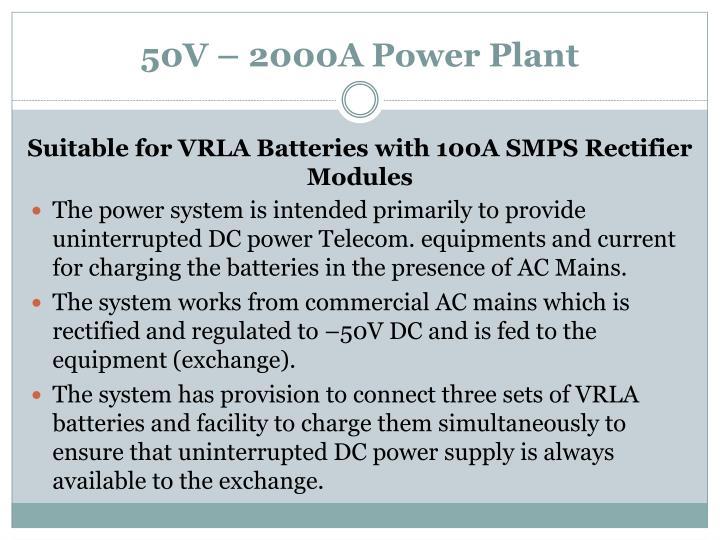 50V – 2000A Power Plant