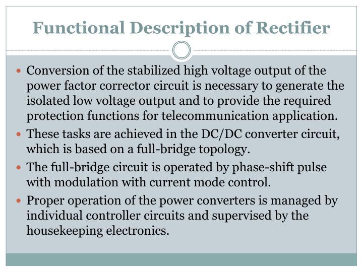 Functional Description of Rectifier