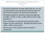 important points for consideration in earthing