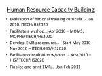 human resource capacity building