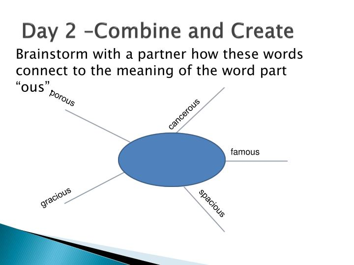 Day 2 –Combine and Create
