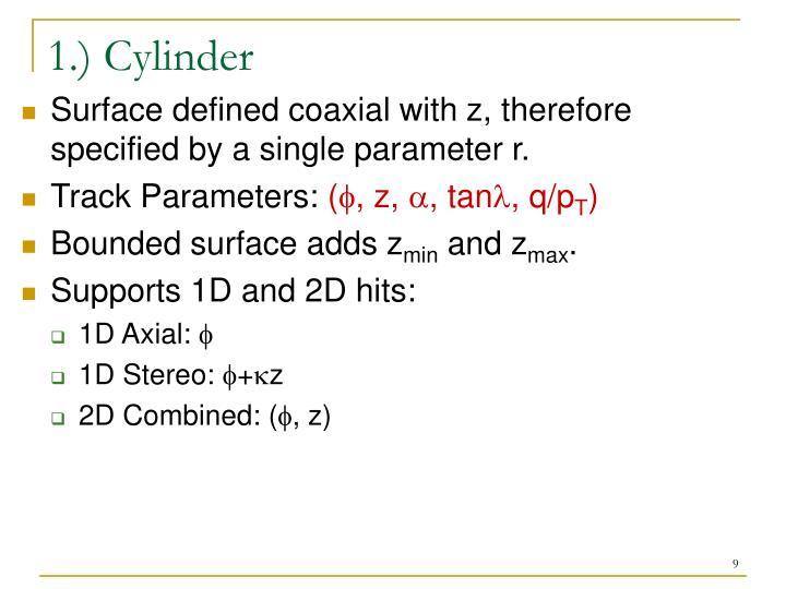 1.) Cylinder
