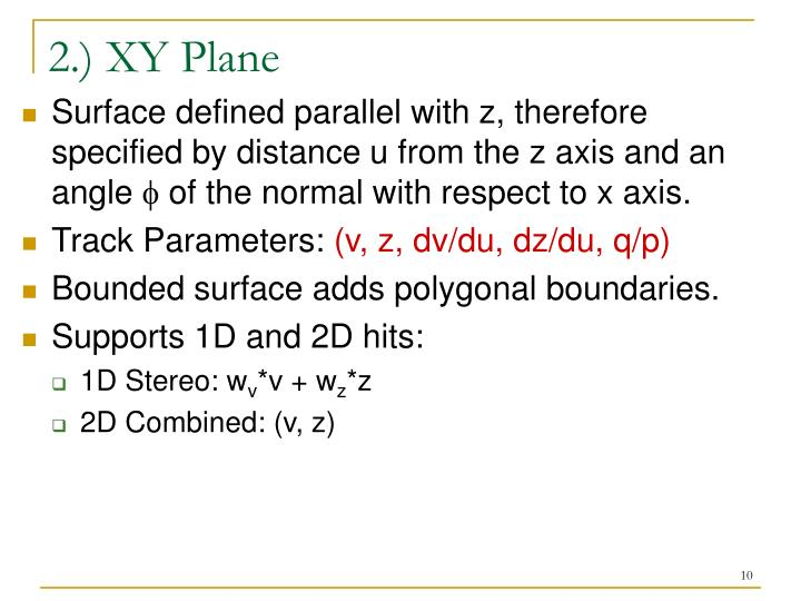 2.) XY Plane