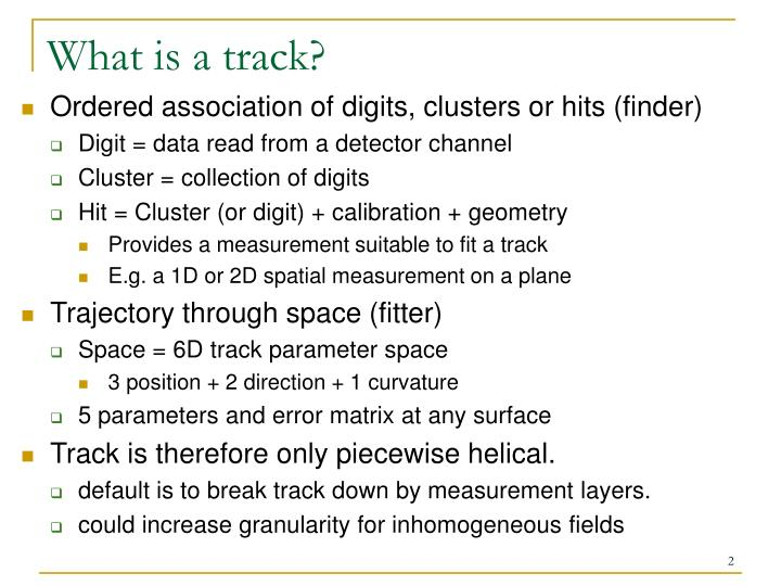 What is a track?